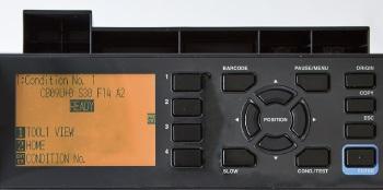 Graphtec CE7000 LCD Display