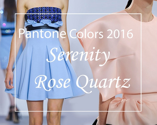 Pantone Colors 2016 Rose Quartz Serenity fashionisers1