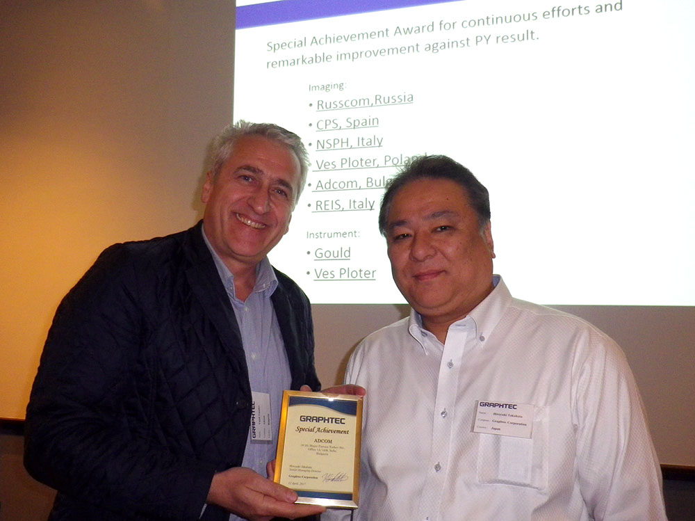 Adcom Awarded by Graphtec